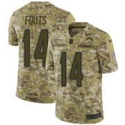 Wholesale Cheap Nike Chargers #14 Dan Fouts Camo Youth Stitched NFL Limited 2018 Salute to Service Jersey