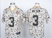 Wholesale Cheap Nike Seahawks #3 Russell Wilson Camo USMC Men's Stitched NFL Elite Jersey