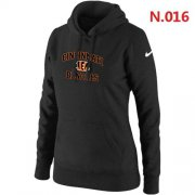 Wholesale Cheap Women's Nike Cincinnati Bengals Heart & Soul Pullover Hoodie Black