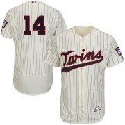 Wholesale Cheap Twins #14 Kent Hrbek Cream Strip Flexbase Authentic Collection Stitched MLB Jersey