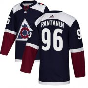 Wholesale Cheap Adidas Avalanche #96 Mikko Rantanen Navy Alternate Authentic Stitched Youth NHL Jersey