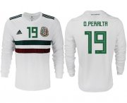 Wholesale Cheap Mexico #19 O.Peralta Away Long Sleeves Soccer Country Jersey