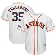 Wholesale Cheap Houston Astros #35 Justin Verlander Majestic 2019 Postseason Official Cool Base Player Jersey White