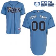 Wholesale Cheap Rays Customized Authentic Light Blue Cool Base MLB Jersey (S-3XL)