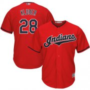 Wholesale Cheap Indians #28 Corey Kluber Red New Cool Base Stitched MLB Jersey