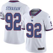 Wholesale Cheap Nike Giants #92 Michael Strahan White Men's Stitched NFL Limited Rush Jersey