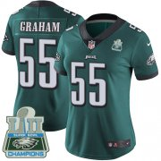 Wholesale Cheap Nike Eagles #55 Brandon Graham Midnight Green Team Color Super Bowl LII Champions Women's Stitched NFL Vapor Untouchable Limited Jersey