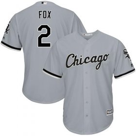 Wholesale Cheap White Sox #2 Nellie Fox Grey Road Cool Base Stitched Youth MLB Jersey