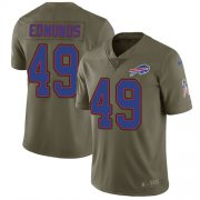 Wholesale Cheap Nike Bills #49 Tremaine Edmunds Olive Men's Stitched NFL Limited 2017 Salute To Service Jersey