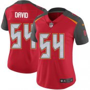 Wholesale Cheap Nike Buccaneers #54 Lavonte David Red Team Color Women's Stitched NFL Vapor Untouchable Limited Jersey