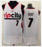 Wholesale Cheap Portland Trail Blazers #7 Brandon Roy White Throwback NBA Jersey
