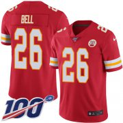 Wholesale Cheap Nike Chiefs #26 Le'Veon Bell Red Team Color Men's Stitched NFL 100th Season Vapor Untouchable Limited Jersey