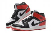 Wholesale Cheap Jordan 1 Girls Shoes red/black/white