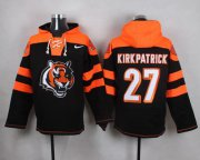 Wholesale Cheap Nike Bengals #27 Dre Kirkpatrick Black Player Pullover NFL Hoodie