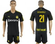Wholesale Cheap Dortmund #21 Schurrle Away Soccer Club Jersey