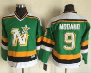 Wholesale Cheap Stars #9 Mike Modano Green CCM Throwback Youth Stitched NHL Jersey