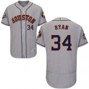Wholesale Cheap Astros #34 Nolan Ryan Grey Flexbase Authentic Collection 2019 World Series Bound Stitched MLB Jersey