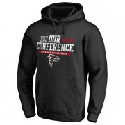 Wholesale Cheap Men's Atlanta Falcons Pro Line by Fanatics Branded Black 2016 NFC Conference Champions Big & Tall Our Conference Pullover Hoodie