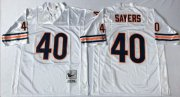 Wholesale Cheap Mitchell&Ness Bears #40 Gale Sayers White Small No. Throwback Stitched NFL Jersey