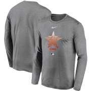 Wholesale Cheap Men's Houston Astros Nike Charcoal Authentic Collection Legend Performance Long Sleeve T-Shirt