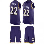 Wholesale Cheap Nike Ravens #22 Jimmy Smith Purple Team Color Men's Stitched NFL Limited Tank Top Suit Jersey