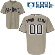 Wholesale Cheap Padres Customized Authentic Grey Cool Base MLB Jersey (S-3XL)