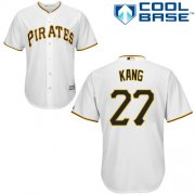 Wholesale Cheap Pirates #27 Jung-ho Kang White Cool Base Stitched Youth MLB Jersey