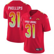 Wholesale Cheap Nike Chargers #31 Adrian Phillips Red Youth Stitched NFL Limited AFC 2019 Pro Bowl Jersey