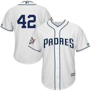 Wholesale Cheap San Diego Padres #42 Majestic 2019 Jackie Robinson Day Official Cool Base Jersey White