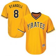 Wholesale Cheap Pirates #8 Willie Stargell Gold New Cool Base Stitched MLB Jersey