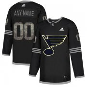Wholesale Cheap Men's Adidas Blues Personalized Authentic Black Classic NHL Jersey