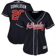 Wholesale Cheap Braves #20 Josh Donaldson Navy Blue Alternate Women's Stitched MLB Jersey