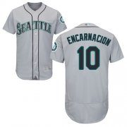 Wholesale Cheap Mariners #10 Edwin Encarnacion Grey Flexbase Authentic Collection Stitched MLB Jersey