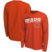Wholesale Cheap Chicago Bears Nike Sideline Line of Scrimmage Legend Performance Long Sleeve T-Shirt Orange