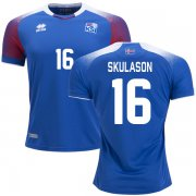 Wholesale Cheap Iceland #16 Skulason Home Soccer Country Jersey