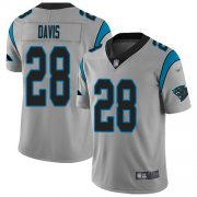 Wholesale Cheap Nike Panthers #28 Mike Davis Silver Men's Stitched NFL Limited Inverted Legend Jersey