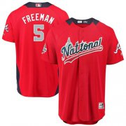 Wholesale Cheap Braves #5 Freddie Freeman Red 2018 All-Star National League Stitched MLB Jersey