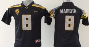 Wholesale Cheap Oregon Duck #8 Marcus Mariota 2014 Black Limited Jersey