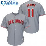Wholesale Cheap Reds #11 Barry Larkin Grey Cool Base Stitched Youth MLB Jersey