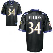 Wholesale Cheap Ravens #34 Ricky Williams Black Stitched NFL Jersey