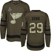 Wholesale Cheap Adidas Blues #29 Vince Dunn Green Salute to Service Stanley Cup Champions Stitched NHL Jersey