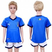 Wholesale Cheap Italy Blank Home Kid Soccer Country Jersey