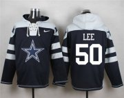 Wholesale Cheap Nike Cowboys #50 Sean Lee Navy Blue Player Pullover NFL Hoodie