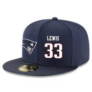 Wholesale Cheap New England Patriots #33 Dion Lewis Snapback Cap NFL Player Navy Blue with White Number Stitched Hat