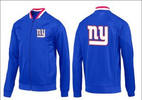 Wholesale Cheap NFL New York Giants Team Logo Jacket Blue_1