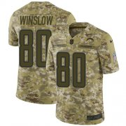 Wholesale Cheap Nike Chargers #80 Kellen Winslow Camo Youth Stitched NFL Limited 2018 Salute to Service Jersey