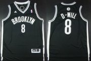 Wholesale Cheap Brooklyn Nets #8 D-Will Black Nickname Revolution 30 Swingman Black Jersey