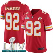 Wholesale Cheap Nike Chiefs #92 Tanoh Kpassagnon Red Super Bowl LIV 2020 Team Color Youth Stitched NFL Vapor Untouchable Limited Jersey