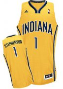 Wholesale Cheap Indiana Pacers #1 Lance Stephenson Yellow Swingman Jersey