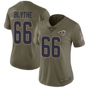 Wholesale Cheap Nike Rams #66 Austin Blythe Olive Women\'s Stitched NFL Limited 2017 Salute To Service Jersey